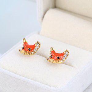 Kate Spade Cute Fox Head Earrings